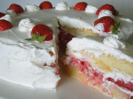 Strawberry Cream Cheese Genoise