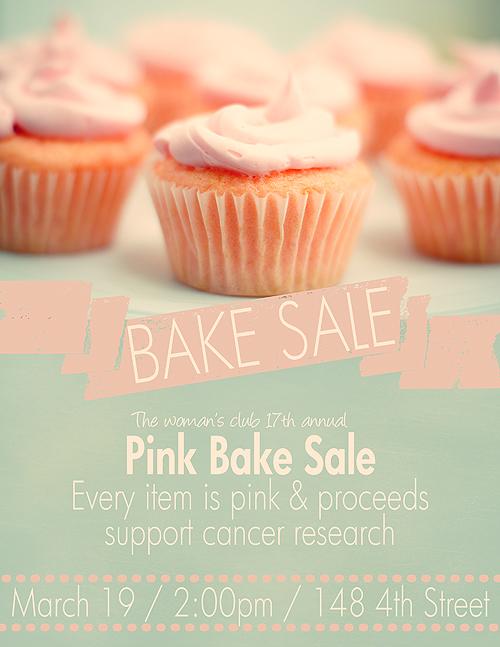 Pink Bake Sale Flyer Bake Sale Flyers \u2013 Free Flyer Designs