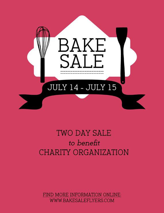 Bake Sale Flyer Bake Sale Flyers \u2013 Free Flyer Designs