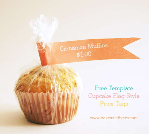 Cupcake Flag Template Bake Sale Flyers \u2013 Free Flyer Designs