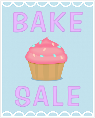 bake-sale-poster-printable baking ideas Pinterest Sale - fall flyer