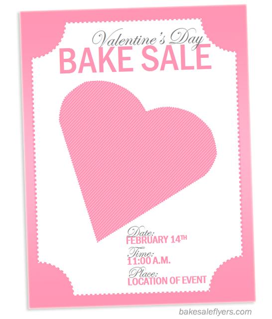 Valentine\u0027s Day Flyer Template Bake Sale Flyers \u2013 Free Flyer Designs