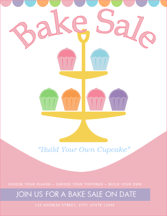 Bake Sale Flyers \u2013 Free Flyer Designs