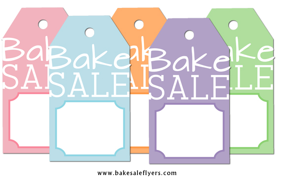 Free Printable Bake Sale Tags Bake Sale Flyers \u2013 Free Flyer Designs