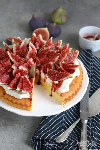 Polenta Cake with Fresh Figs | Bake to the roots