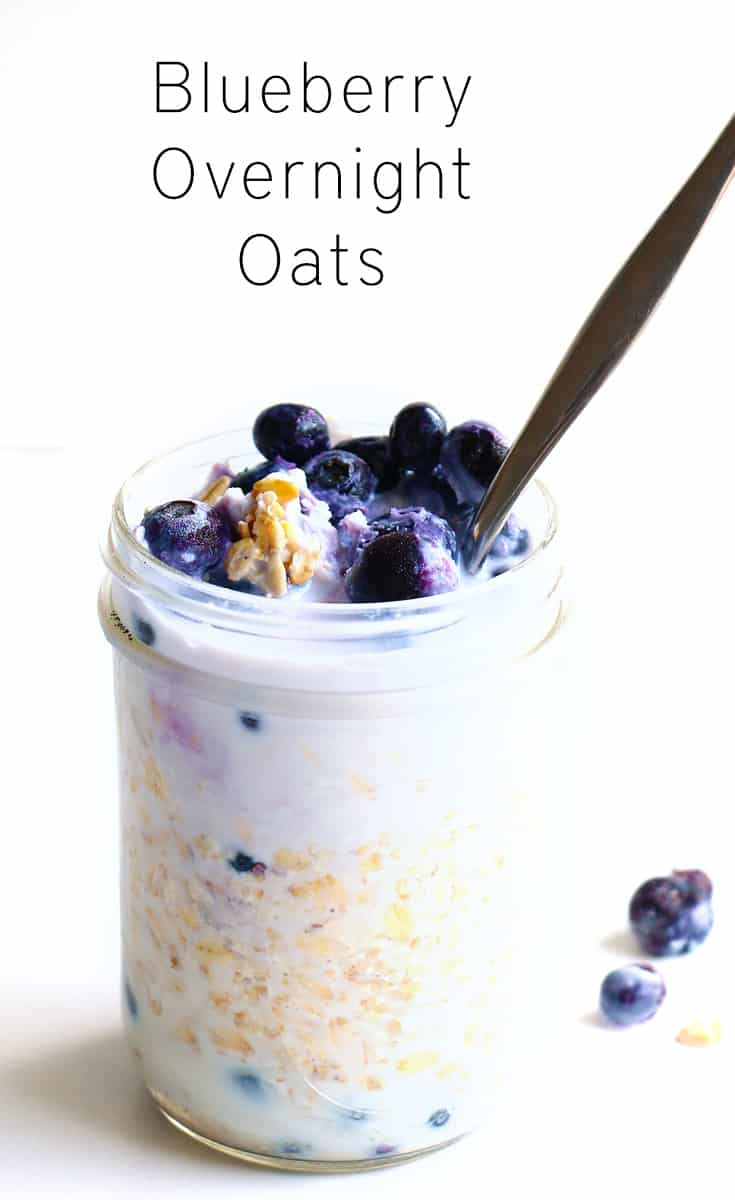 creamy blueberry overnight oats baking ginger. Black Bedroom Furniture Sets. Home Design Ideas