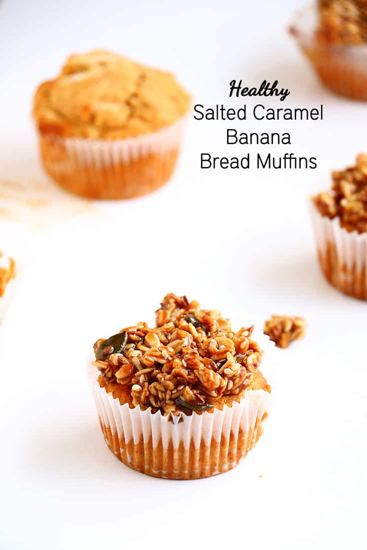 Salted Caramel Banana Bread Muffins – Vegan, gluten free and refined ...
