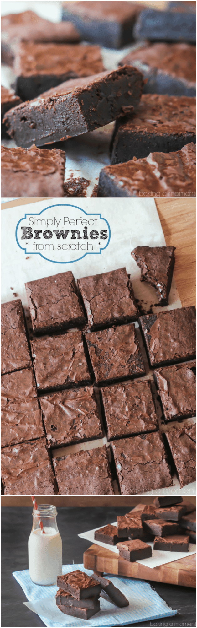 Hands-down the BEST brownie recipe ever! So fudgy and rich, and super-simple to make.