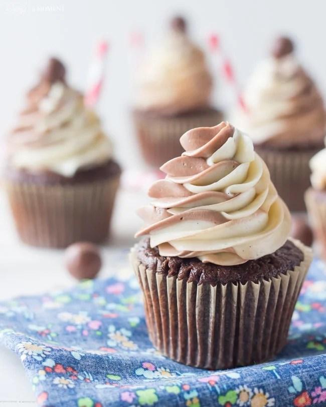 Black & White Malt Shoppe Cupcakes | Baking a Moment