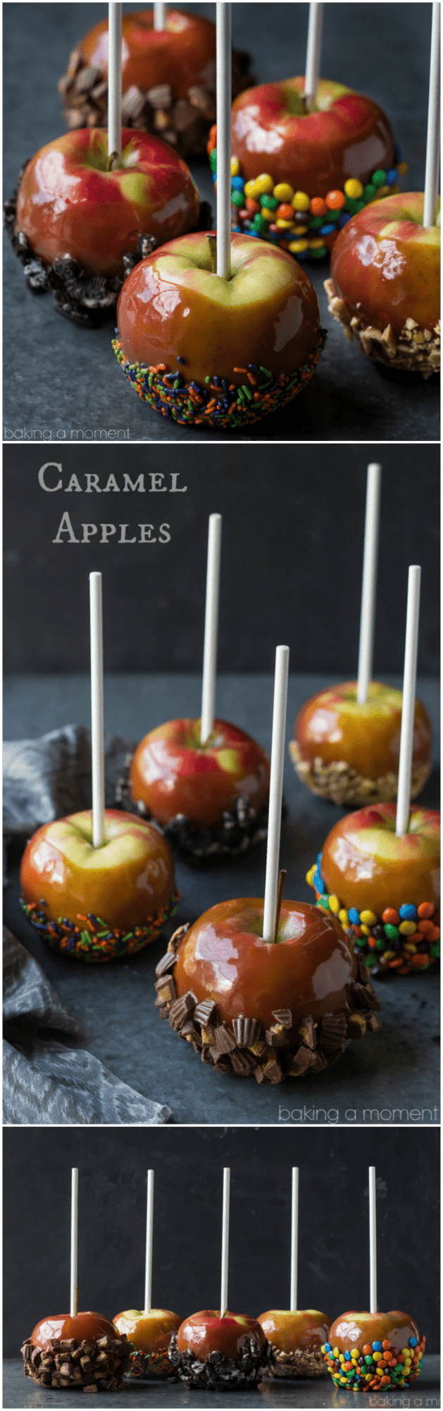 Caramel apples baking a moment for Caramel apple recipes for halloween