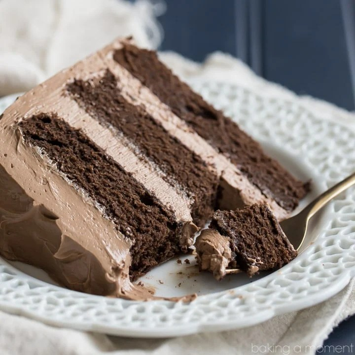 Simply Perfect Chocolate Cake - Easy, one-bowl recipe, moist and