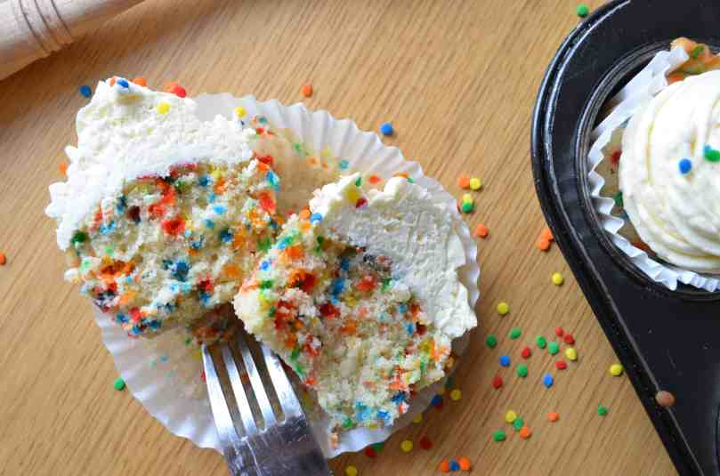 Funfetti Cupcakes | Baking With Aimee