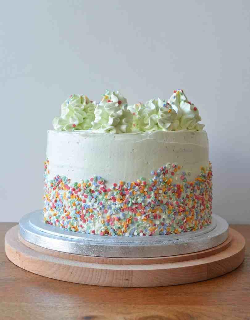 raspberry and almond Layer Cake