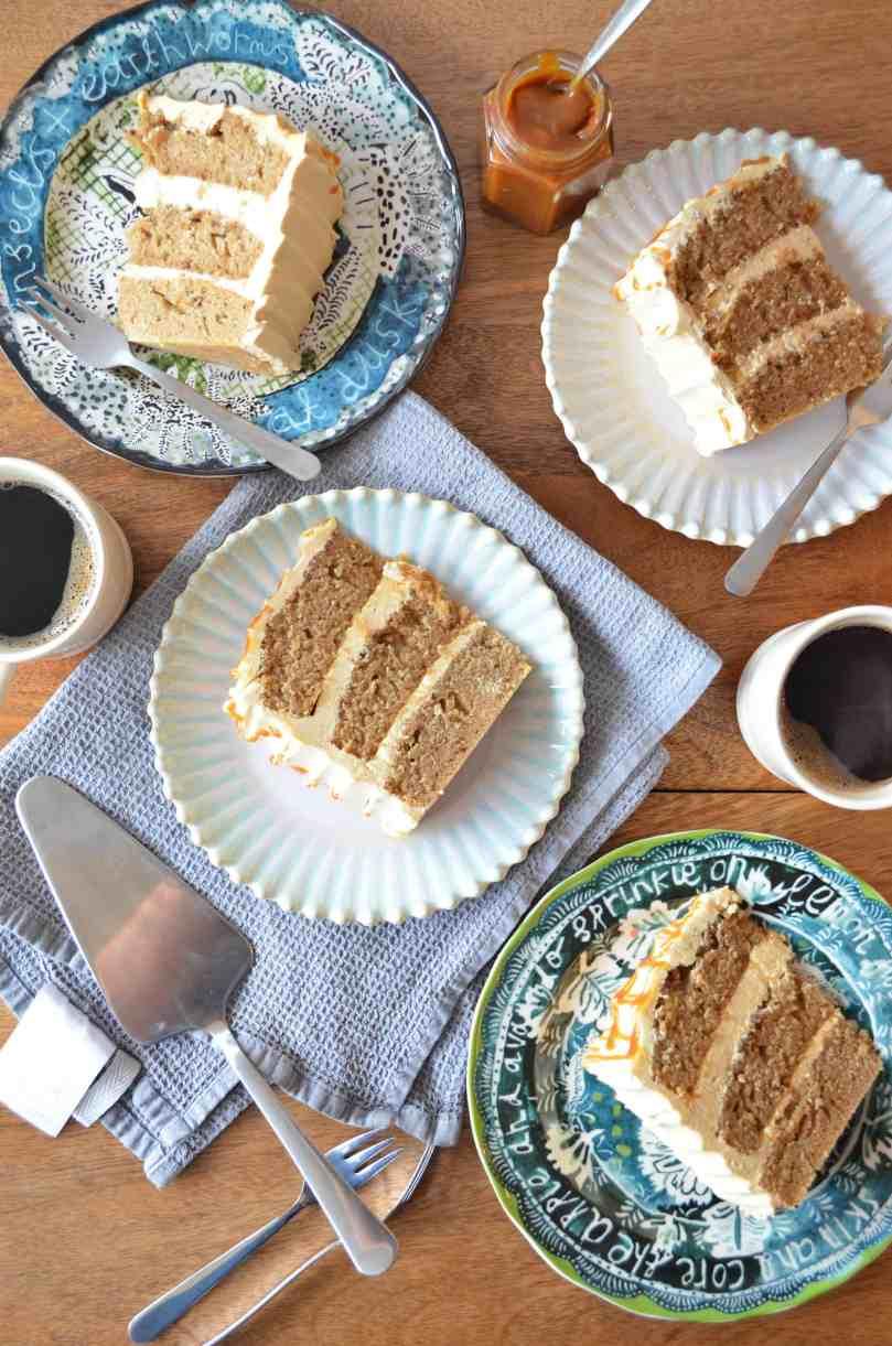caramel macchiato layer cake