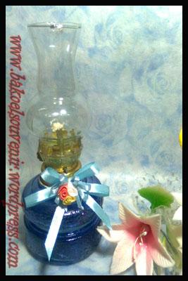 Souvenir Pernikahan Lampu Tempel Apel Biru