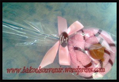 Souvenir Pernikahan Wel Cake Lolipop Single Beruang