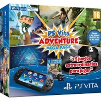 PlayStation Vita Consola + Mega Pack Adventure + Tarjeta 8 Gb