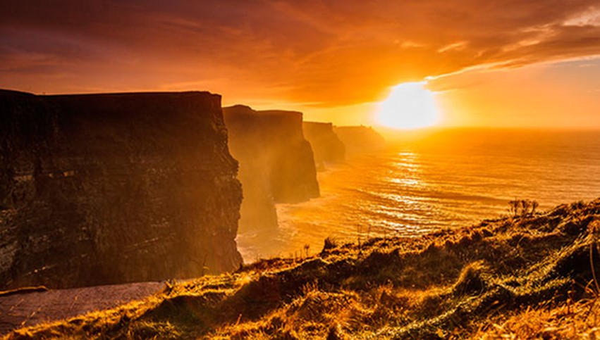 Fall Harry Potter Wallpaper Sunset At The Cliffs Of Moher Balally House B Amp B