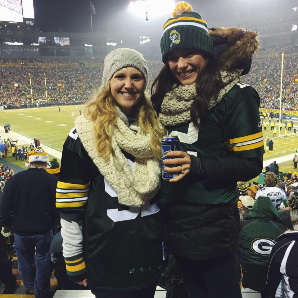 Lambeau with Kelley after our night-shift :)