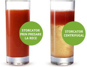 Storcator fructe legume centrifugal vs. presare la rece