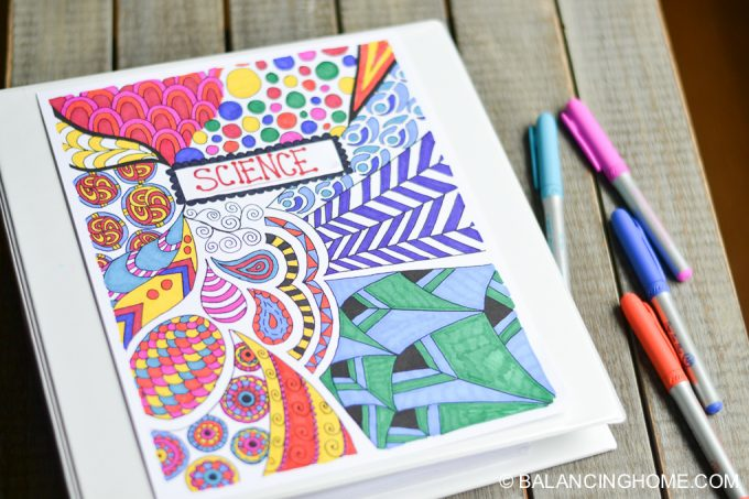 Coloring Page Binder Cover Printable - Balancing Home