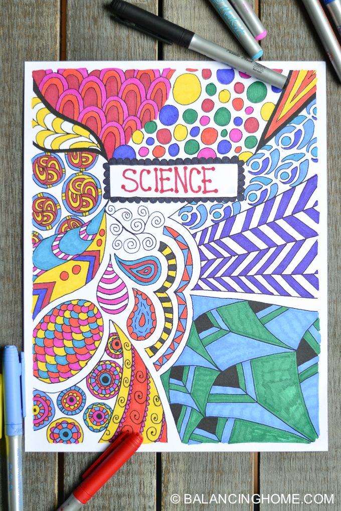 Coloring Page Binder Cover Printable - Balancing Homeprintable