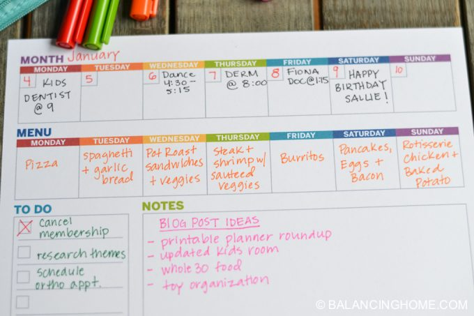 Weekly Planner Template Printable - Balancing Home With Megan Bray - free printable weekly planner