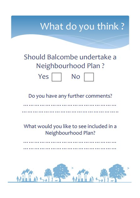 Spring 2012 Neighbourhood Planning Presentation  Feedback Form