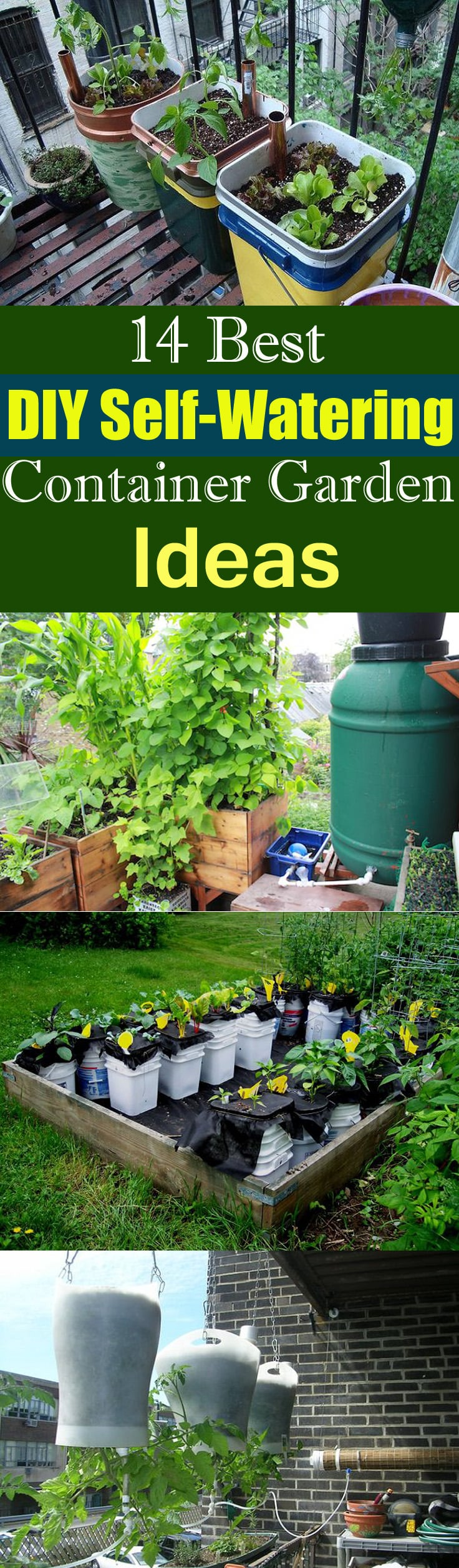 Make Self Watering Planters 14 Best Diy Self Watering Container Garden Ideas Balcony Garden Web