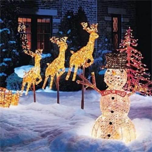 Christmas Garden Decoration Ideas Outdoor Christmas Decorations - christmas decorations outside
