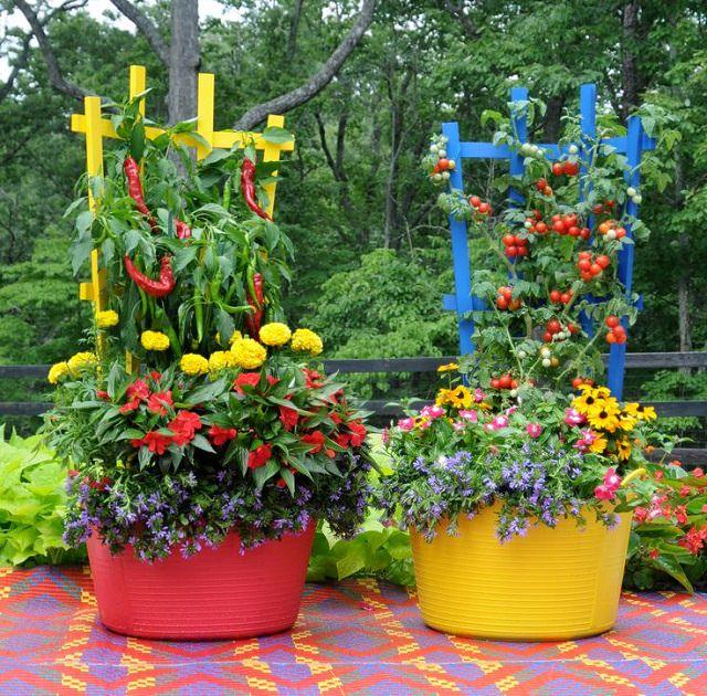 15 Stunning Container Vegetable Garden Design Ideas \ Tips - container garden design ideas