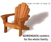Baldwin Lawn Furniture - Chairs - Baby Baldwin Adirondack ...