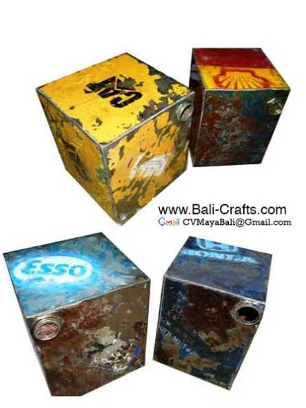 Oildrm1-17 Recycled Oil Drum Steel Furniture Bali Indonesia