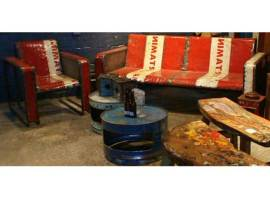 Oildrm1-20 Recycled Metal Oil Barrel Furniture Bali Indonesia