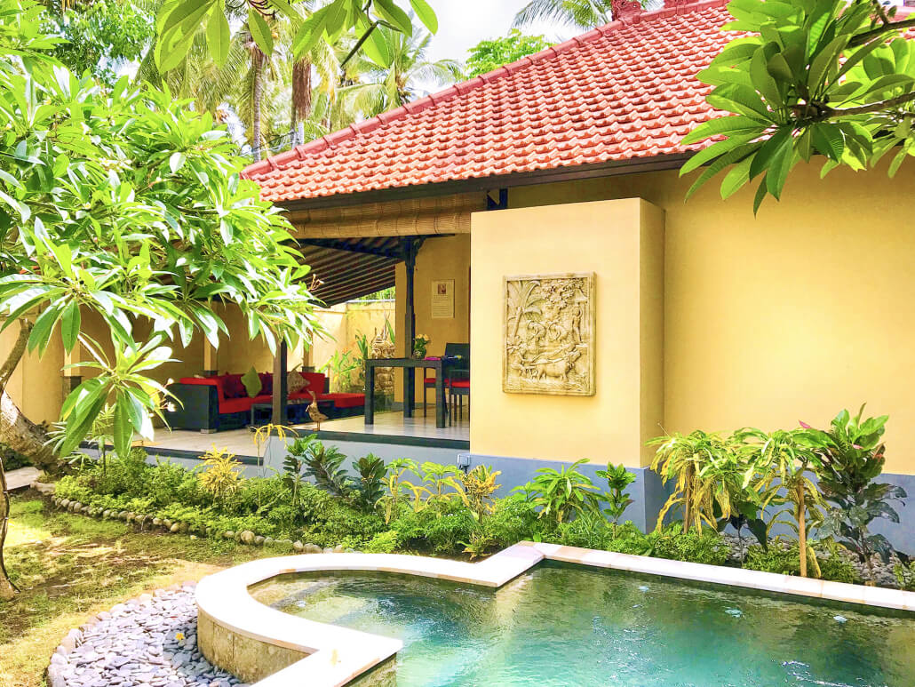 Pool Im Garten Hygiene Resort Teluk Karang Dive Spa Resort Bali