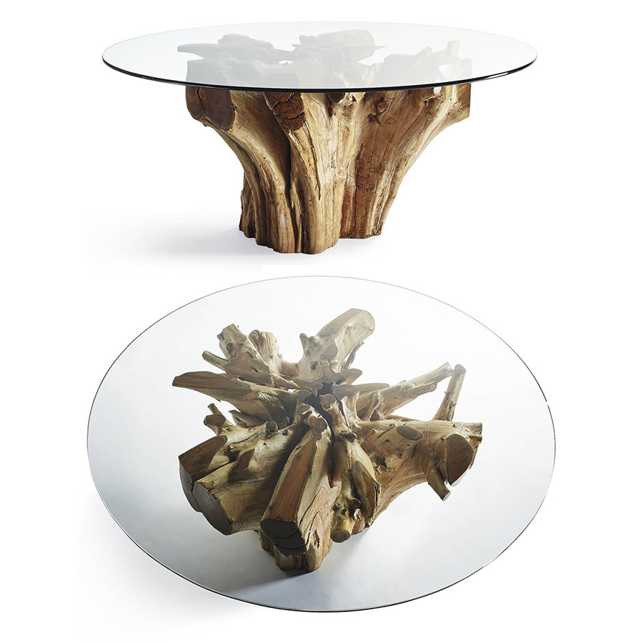 Wholesale Suppliers Indonesia Teak Root Tables Manufacturing Wholesale Supplier From