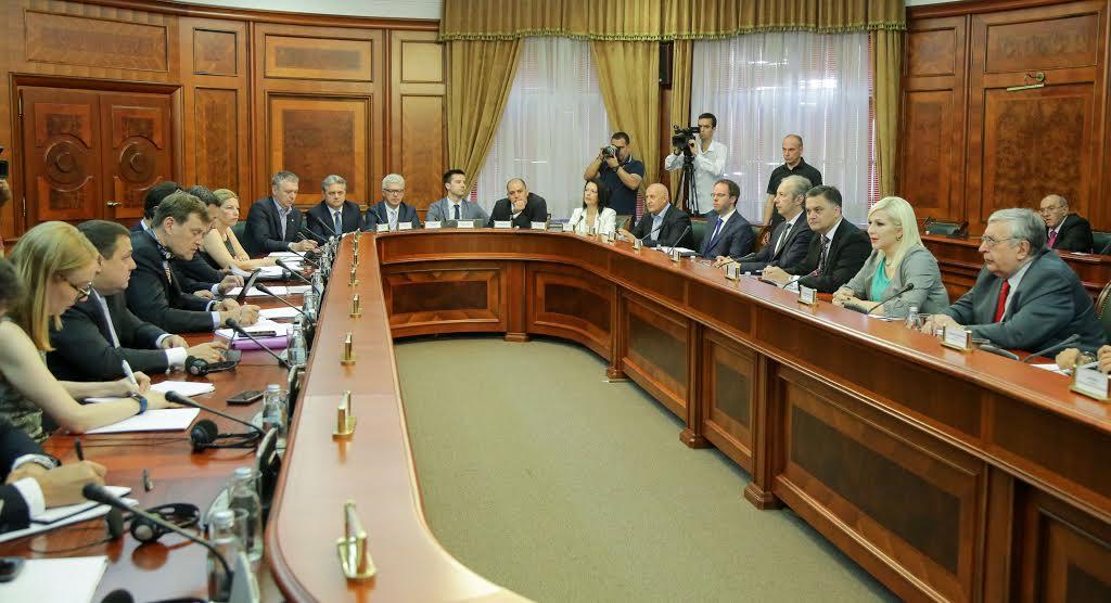 Zorana Mihajlović sa šefom MMF Džejmsom Rufom