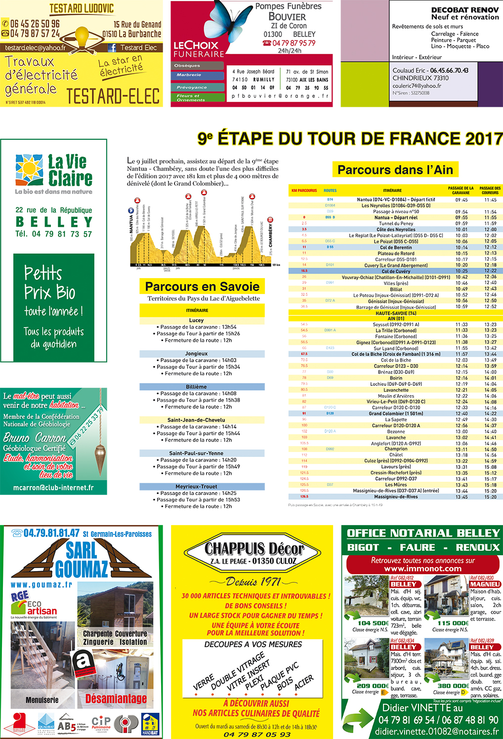 Office Tourisme Nantua Tour De France Animations Nantua ChambÉry 9 Juillet Ballad