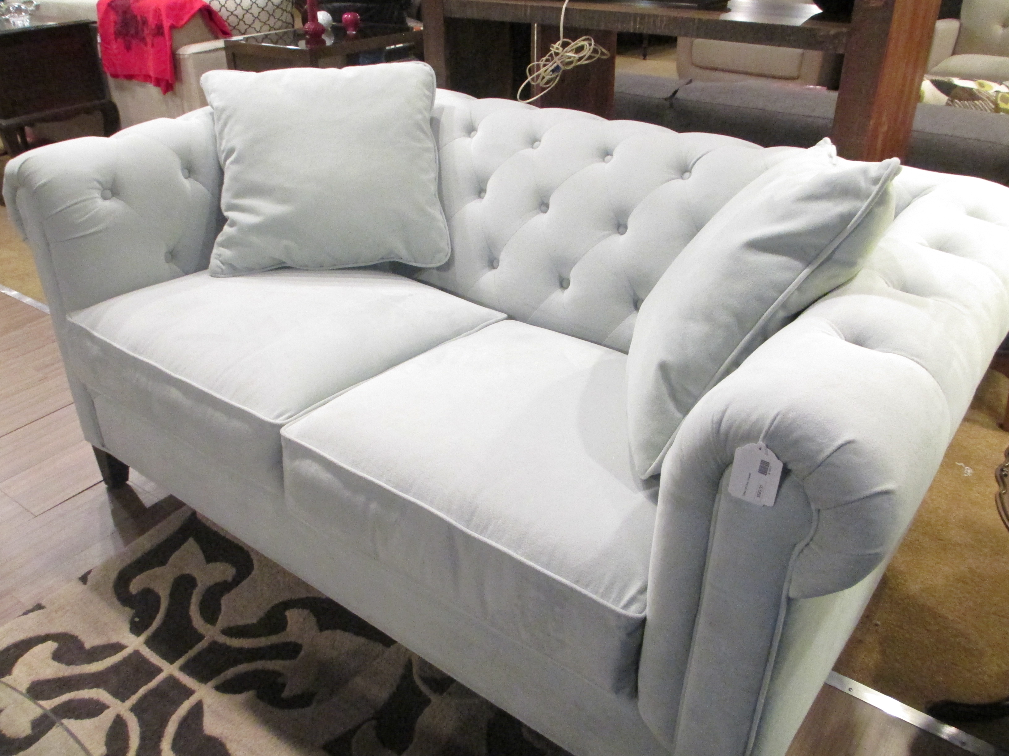 Bettsofa Joy Velour Sofa Velour Couch Blue Tufted Couch Medium Size Of Blue