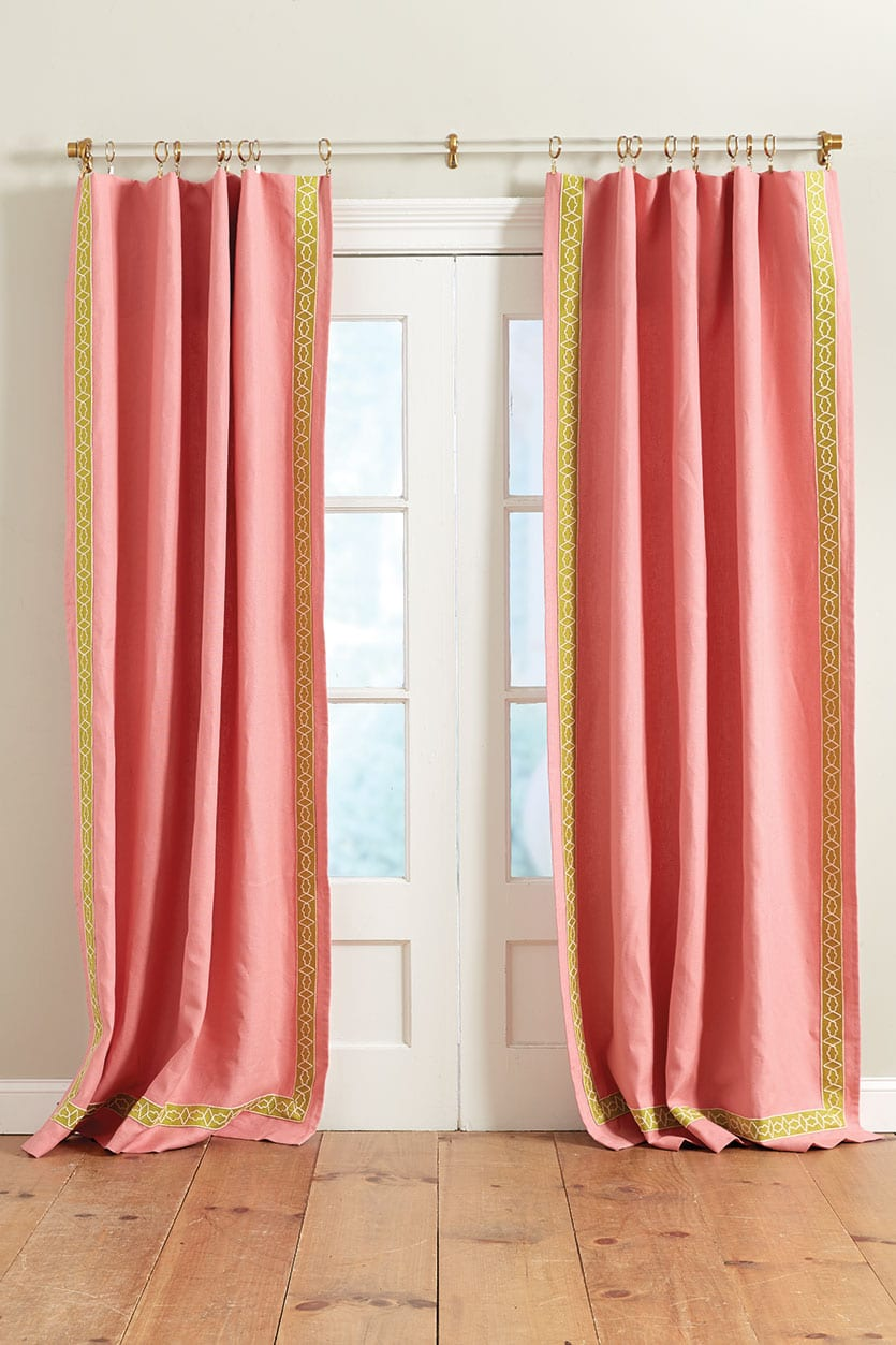 Ribbon Trim Curtains How To Add Tape Trim To Curtain Panels