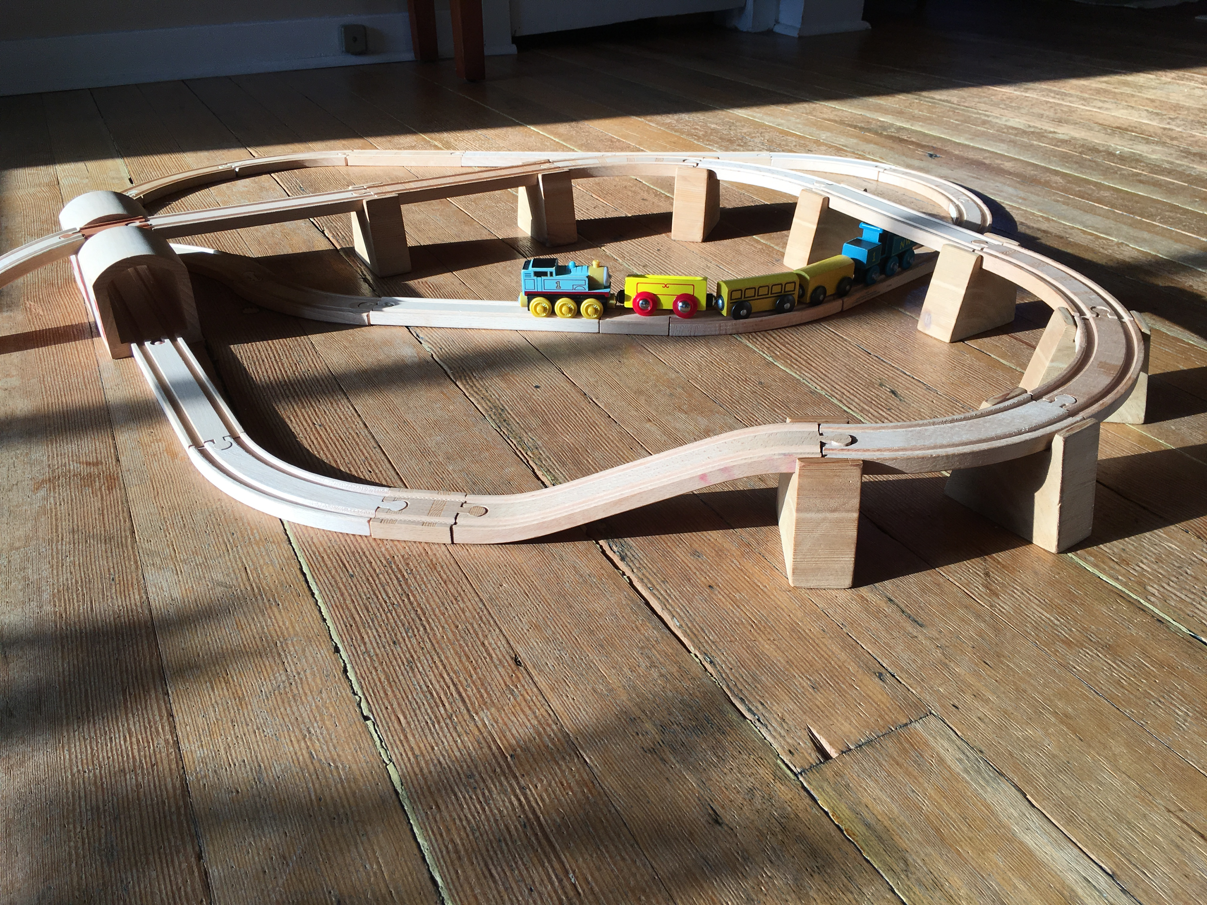 Diy Risers For Wooden Train Sets Jeremy Wadsack