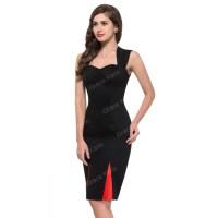 Grace Karin Short Sleeve Red Black Cocktail dresses Short ...