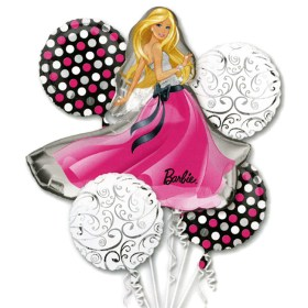 Barbie Glamour Balloon Bouquet Inflated from Balloon Shop NYC
