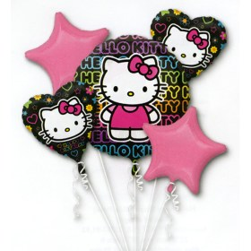 Hello Kitty Twin Birthday Balloon Bouquet from Balloon Shop NYC