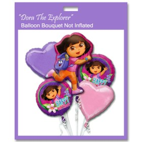 Dora the Explorer Birthday Balloon Bouquet Not Inflated from Balloon Bouquet NYC