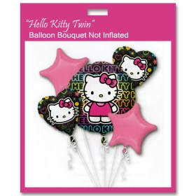Hello Kitty Twin Birthday Balloon Bouquet Not Inflated from Balloon Shop NYC