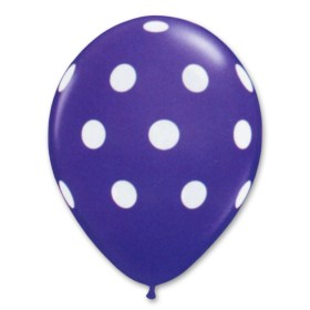 New Purple Latex Party Balloons Polka Dot 12 inch from Balloon Shop NYC