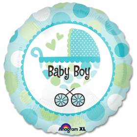 Baby Boy Buggy Balloon from Balloons Shop NYC