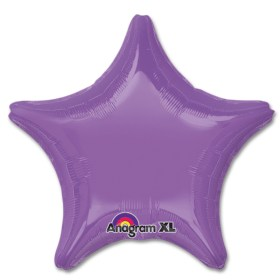 Spring Lilac Star Solid Color Foil Party Balloon 19 inch from Balloon Shop NYC