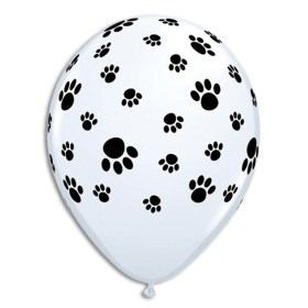 Paw Prints Printed Latex Balloon from Balloon Shop NYC
